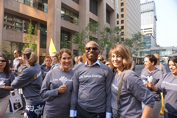 Enbridge employees at United Way parade